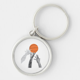 basketball up for grabs vector design keychains