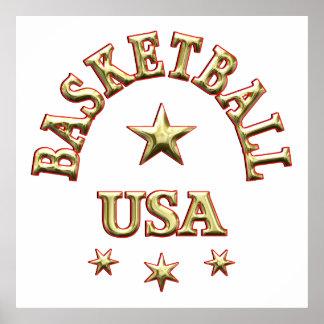 Basketball USA Print