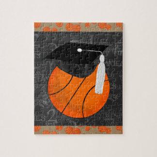 Basketball Wearing Graduation Cap, Basketball Word Jigsaw Puzzle