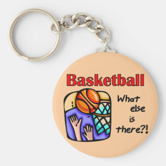 Basketball What Else T-shirts and Gifts Basic Round Button Key Ring