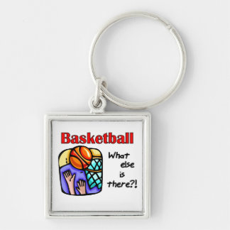 Basketball What Else T-shirts and Gifts Silver-Colored Square Key Ring