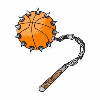 basketball whip mace photo sculpture