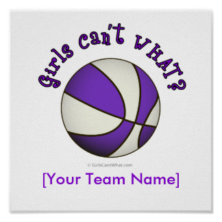 Basketball - White/Purple Print