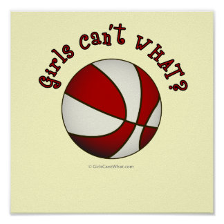 Basketball - White/Red Posters