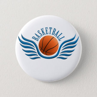 basketball wings 6 cm round badge