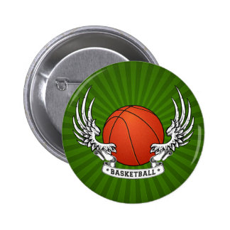 Basketball Wings Button