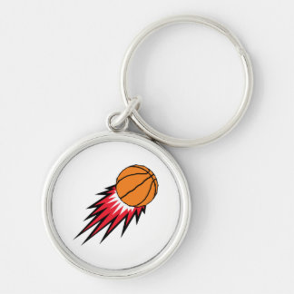 basketball with spikes design key chains