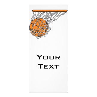 basketball woosh ball in net vector illustration rack cards