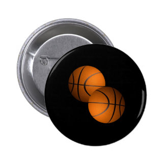 Basketballs 6 Cm Round Badge