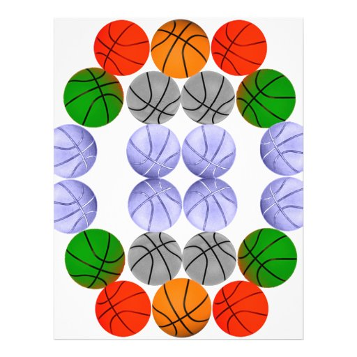 Basketballs Personalized Flyer