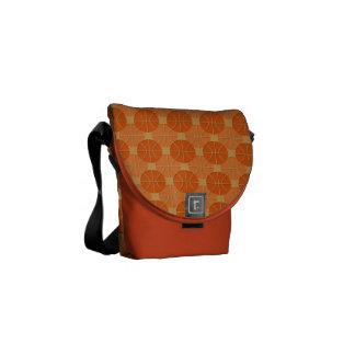 Basketballs pattern courier bag