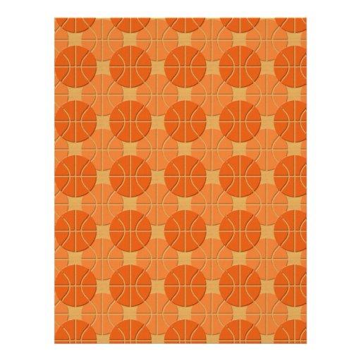 Basketballs pattern flyer