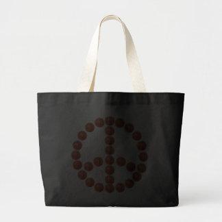 Basketballs Peace Sign Bag
