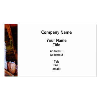Baskets and Barrels in Attic Business Card