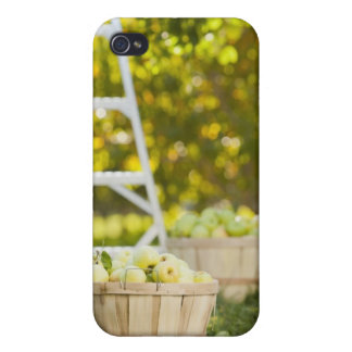 Baskets of apples in orchard iPhone 4 cover