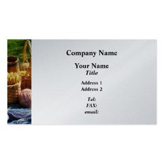 Baskets of Yarn at Flea Market - Platinum Pack Of Standard Business Cards