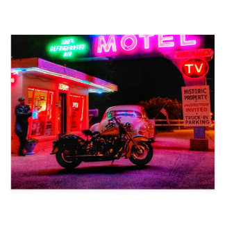 Basking in the Glow of Historic Route 66 Neon Postcard