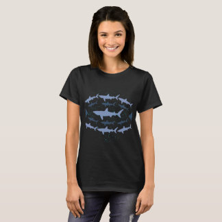 Basking Shark Marine Biology Art T-Shirt