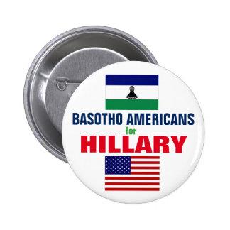 Basotho Americans for Hillary 2016 6 Cm Round Badge