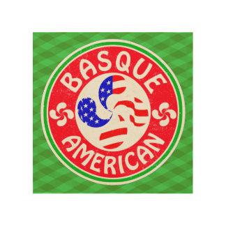 Basque American Lauburu Cross Wood Print