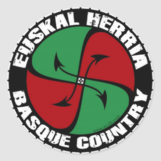 basque country classic round sticker
