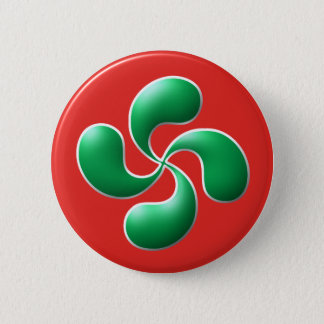 Basque cross 6 cm round badge