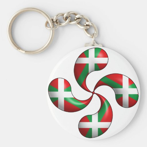 Basque Cross Keychain