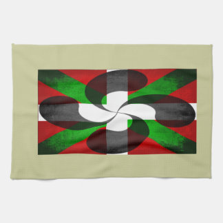 Basque Flag and Cross Tea Towel
