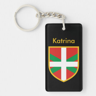 Basque Flag Double-Sided Rectangular Acrylic Key Ring