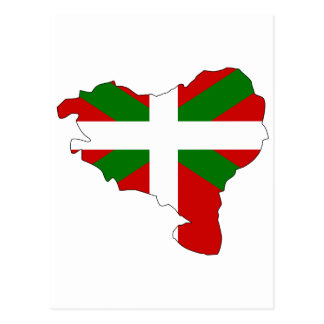 Basque flag map postcard