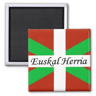 Basque Flag With Euskal Herria Magnet