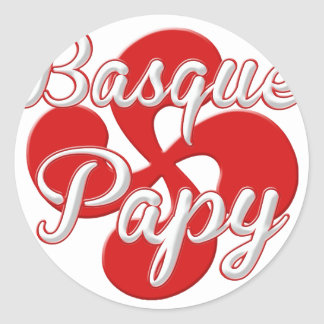Basque Grandpa Classic Round Sticker