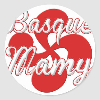 Basque Granny 2.PNG Classic Round Sticker