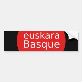 Basque Language Design Bumper Sticker