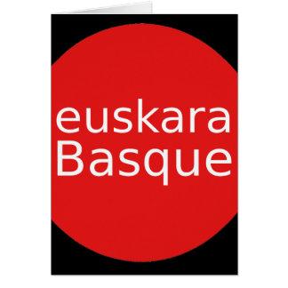 Basque Language Design Card