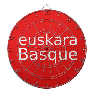 Basque Language Design Dartboard