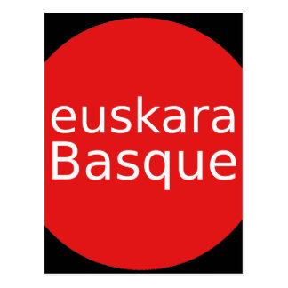 Basque Language Design Postcard