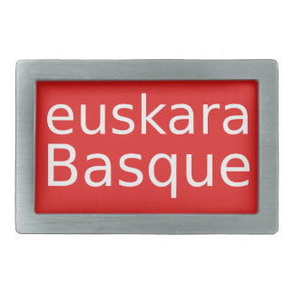 Basque Language Design Rectangular Belt Buckles