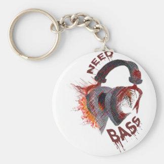 bass basic round button key ring