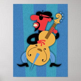 Bass Beat Poster