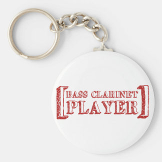 Bass Clarinet  Player Basic Round Button Key Ring
