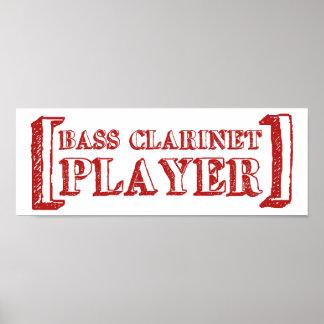 Bass Clarinet  Player Poster