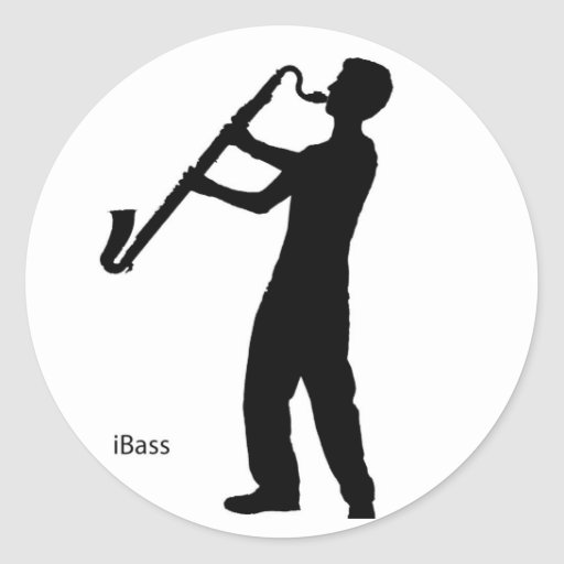 Bass Clarinet Shadow Sticker