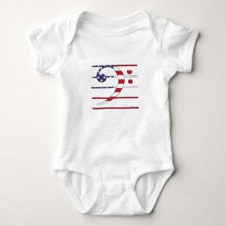 "Bass clef ""american flag"" baby bodysuit"
