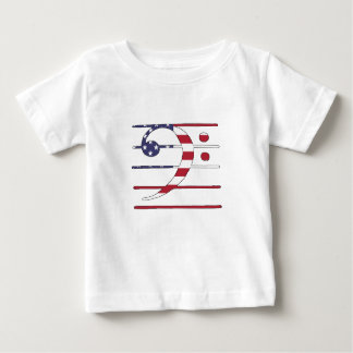 """Bass clef """"american flag"""" baby T-Shirt"""