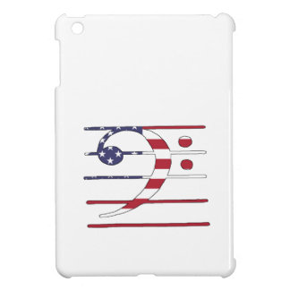 "Bass clef ""american flag"" cover for the iPad mini"