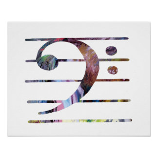 Bass Clef Art Poster