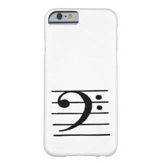 bass clef barely there iPhone 6 case