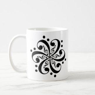 Bass_Clef_Flower_Tattoo_by_ChuckDraws, Bass_Cle... Coffee Mug