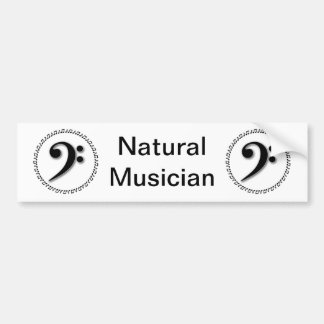 Bass Clef Music Note Design Bumper Sticker